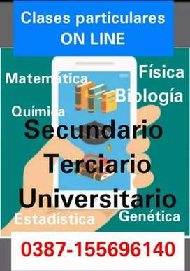 Clases online matemáticas quimica estadisticas genetica