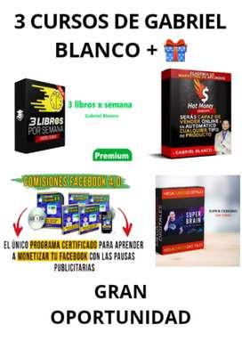 3 CURSOS DE GABRIEL BLANCO +CURSO SUPER CEREBRO