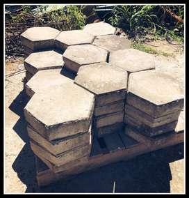 Adoquines hexagonales
