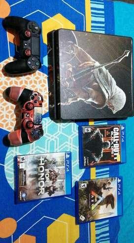 PlayStation 4 slim 1 control 3 juegos fisicos