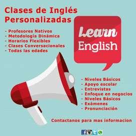 Aprende o Mejora tu Inglés con clases totalmente personalizadas, profesores Nativos y una excelente metodología.