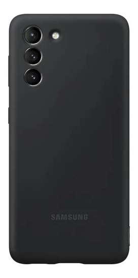Case FUNDA Samsung SILICONE COVER Original @ Galaxy S21 Normal NEGRO
