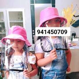 Sombrerito con protector facial para Niños de 1a 3 años