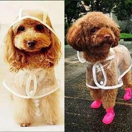 Ropa perro gato impermeable lluvia