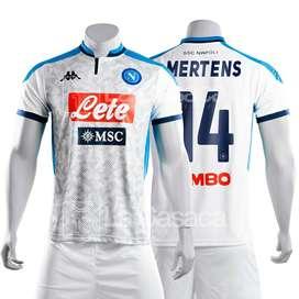 Camiseta Original visitante Napoli Visita Italia 19-20 lorenzo insigne Dries Mertens Kappa futbol