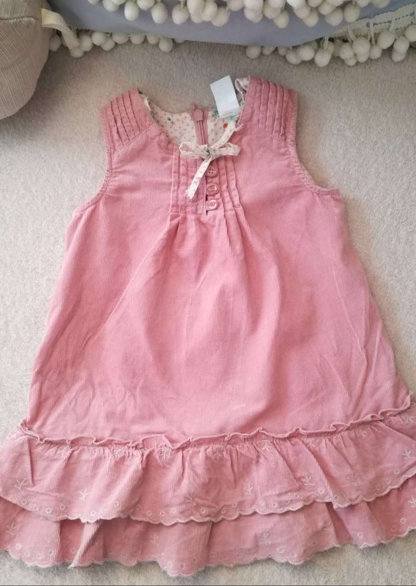 Vestido Bebé Nena 6 / 12 Meses Importado Rosa Impecable