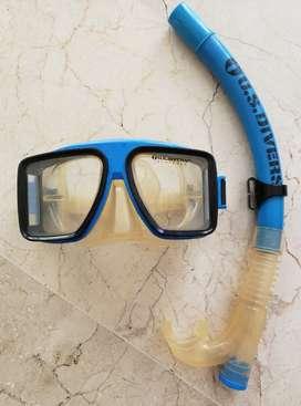 Careta y Snorkell de buceo marca americana US Divers 60% de descuento