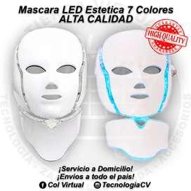 ALTA CALIDAD Mascara LED 7 colores con Cuello Profesional Estetica