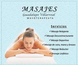 Masajes terapéuticos - Masoterapia
