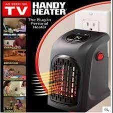 Calentador De Ambiente Calefactor Graduable Temporizador Eléctrico Handy Heater Tv
