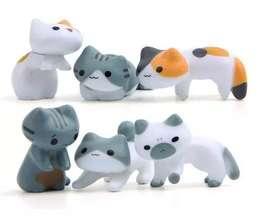 Kawaii Set 3 Unidades Mini Figuras Gatos Varios Modelos