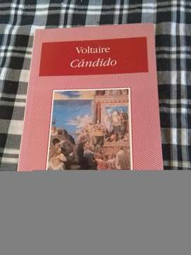 VOLTAIRE . CANDIDO . LIBRO BIBLIOTECA CRONICA 100 x 100 IMPECABLE