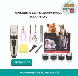 Máquina cortadora de pelo recargable para mascota
