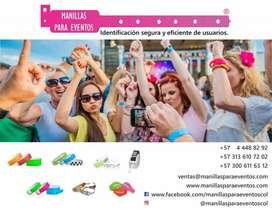 Manillas para eventos en papel tyvek