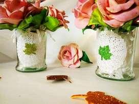 Floreros Artesanales Decorados