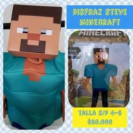 Disfraz Steve de Minecraft