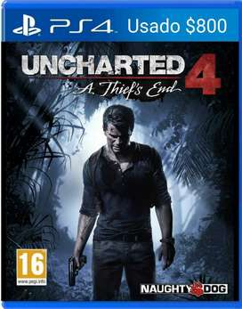 Uncharted 4 Ps4 Fisico Zona Sur