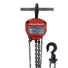 diferencial polipasto de cadena 2 toneladas x 3 metros de altura