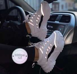 Zapato Tennis Deportivo Reflectivos Para Mujer