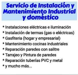 Servicio de Instalación y Mantenimiento (Industrial y doméstico)