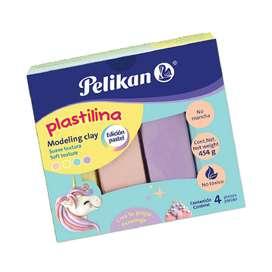 Plastilina Pelikan Colores Pastel X 4 Unidades