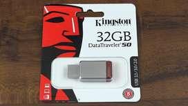 Pendrive Kingston 32 Gb Data Traveler 50 Usb 3.0  bLISTER oRIGINAL