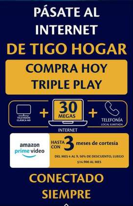 INTERNET +TELEVISIÓN+FIJO PARA HOGAR