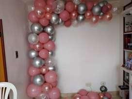 Decoración en globos para cualquier ocasión y temática, torres en globos con cabeza temática, cielo en globos, personali