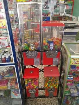 Máquina dispensadora de dulces chicles