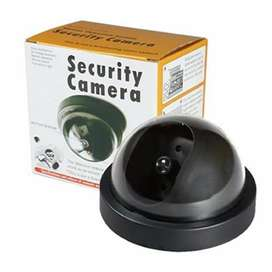 Camara Falsa Domo Camara Vigila Seguridad Led Intermitente X3