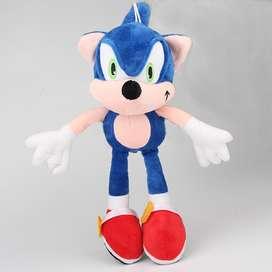 Peluche Muñeco Sonic 30cm Alto Felpa Suave Grande