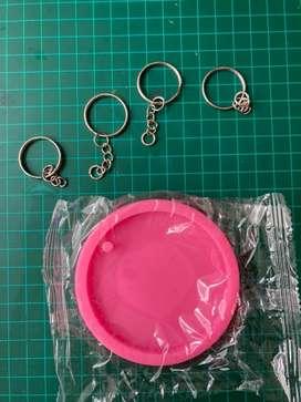 Molde para manualidades resina epoxi incluye argollas