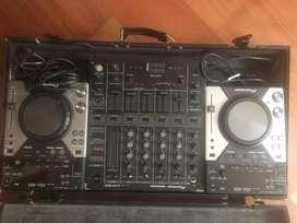 UNIDADES CDJ 400 & MIXER DJM 500 + Rack