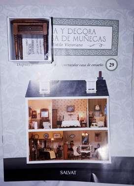 Revista Casa Victoriana Para Armar de Salvat. # 8, #11,#12, #13, #14, #15, #17, #18, #21, #31, #29, #35, #43, #49 y #75