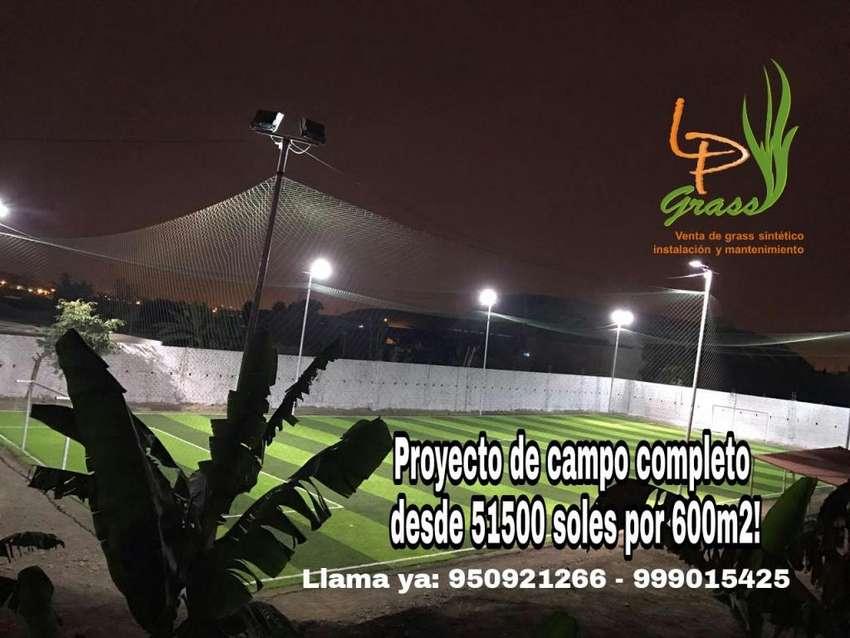 Promoción campo completo de grass sintetico x 600m2 desde 51500 soles! APROVECHALO 0