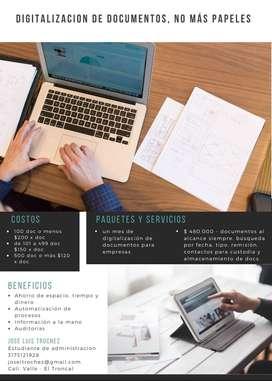 Servicios de digitalización de documentos
