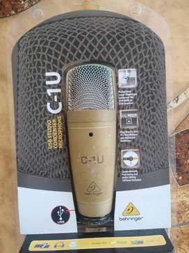 Micrófono De Condensador Behringer C-1u Profesional + trípode ajustable