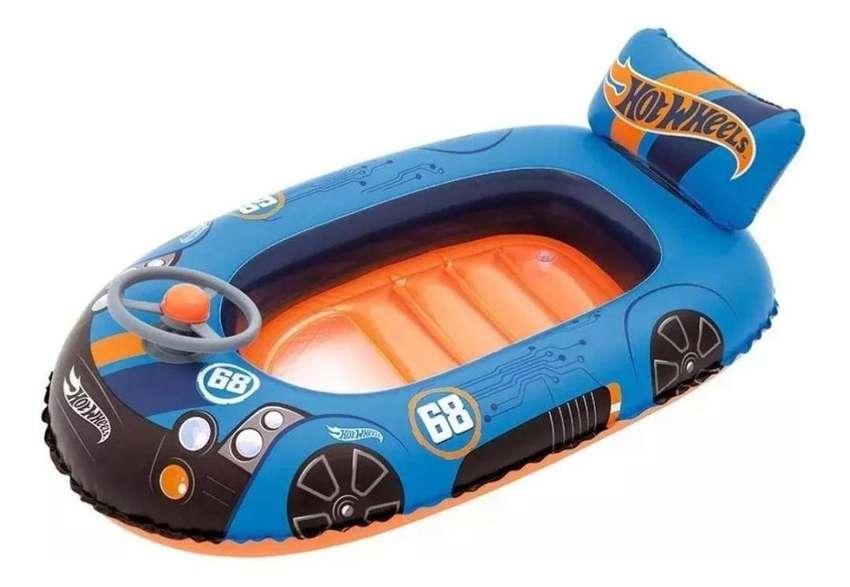 Bote inflable flotador Hotwheels 0