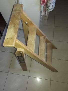 Escalera Madera 4 Pasos