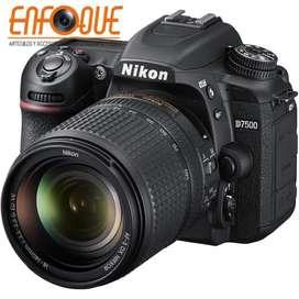 Camara Nikon D7500 Lente 18 140mm Nueva