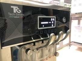 Maquina Helado Suave Profesional TechGelato ProSeries Con Bomba de Aire Italiana