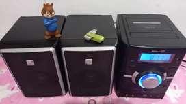Vendo minicomponente marca kalley sirve para radio USB y auxiliar para celular