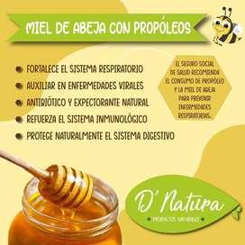 Miel de abeja con propóleos D' Natura
