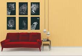 cuadros póster para decoración de salas, comedores , oficina, habitaciones etc son 6 imágenes