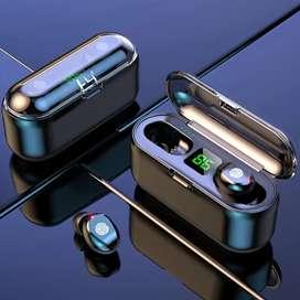 Auriculares bluetooth F9 , función tacil. Reducción de ruido e impermeable. Caja de carga