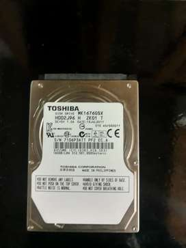 Vendo disco rígido Sata 2.5 para PC netbook o PS3 es d 160 gb