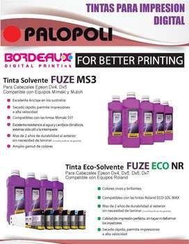 Tinta BORDEAUX MS3 Original Eco / Solvent Cabezales Epson PALOPOLI