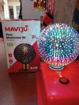 Venta de focos decorativos 3D, de 3,5W
