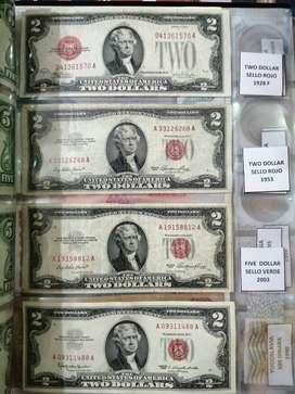 Billetes y monedas americanas