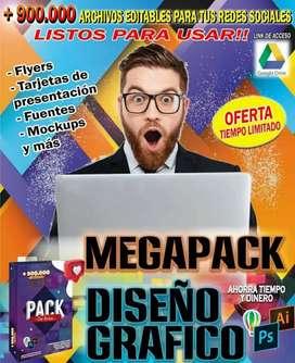 MEGA PACK DE DISEÑO GRÁFICO